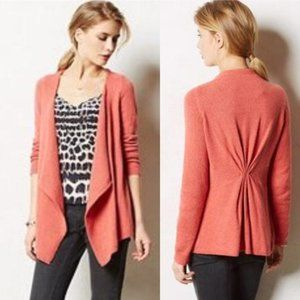 Anthropologie Moth Crillon Coral Cardigan, M
